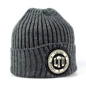Trumpa žieminė kepurė LTU pilka