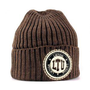 Trumpa žieminė kepurė LTU ruda
