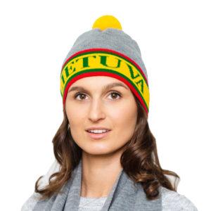 Lietuviškos atributikos šalikas/kepurė LIETUVA